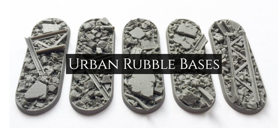 urban rubble resin bases for wargaming miniatures